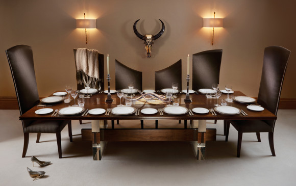 the curve', 10-seater dining table and chairs from the posh trading 10 Seater Dining Table