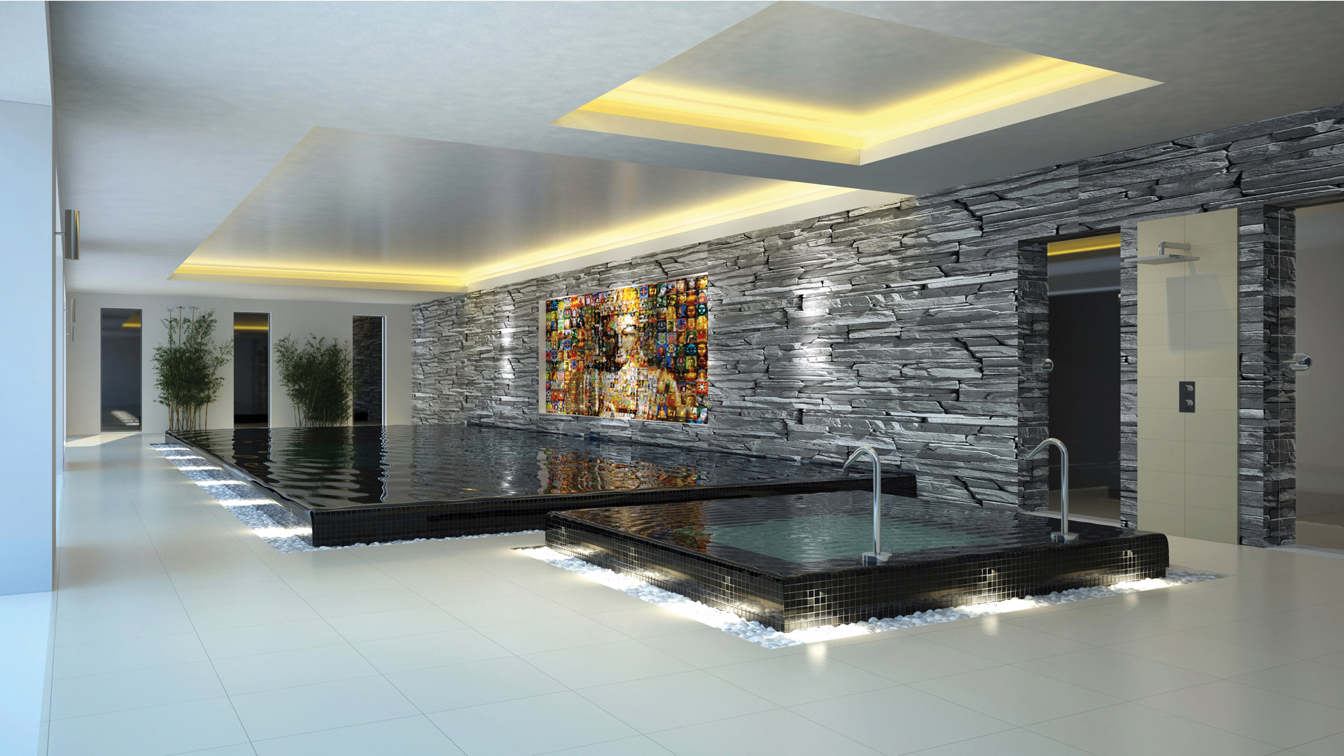 Gorgeous Private Indoor Swimming Pools And Spa Designs