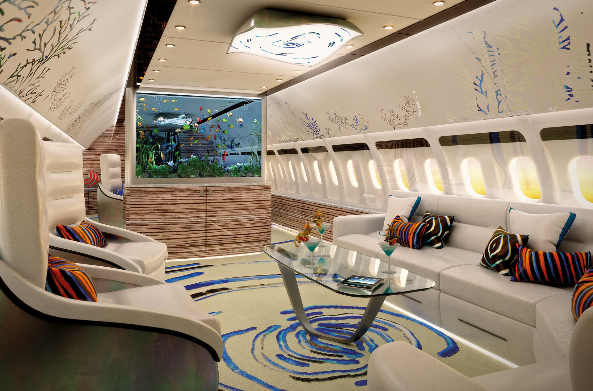 One Of The Main Considerations When Designing A Private Jet Interior Is The  Space Arrangement. Working With Such A Relatively Confined Space, ...